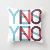 Yes/No Throw Pillow