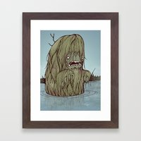 It Came From The Swamp Framed Art Print