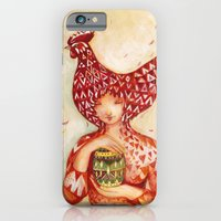 iPhone & iPod Case featuring chicken or the egg? by Darja Charapova