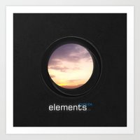Elements | Clouds Art Print
