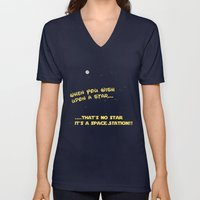 When you wish upon a Star/Space Station Unisex V-Neck