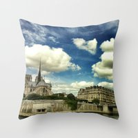 From The River Seine Throw Pillow