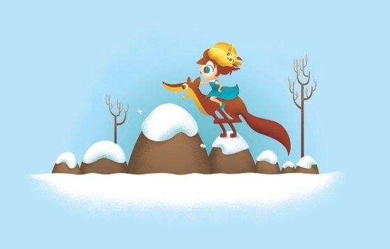 The quick brown fox jumps Art Print