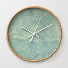 Blue Plaster Wall Clock