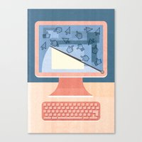 Dealing With Spam Canvas Print