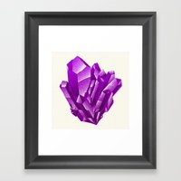 Purple Formation Framed Art Print