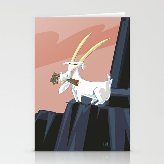Trashmouth Goat, the Frost Giant Slayer Stationery Card