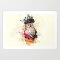 Spain Owl Art Print