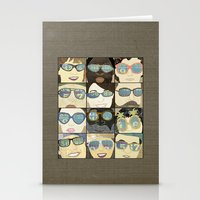 Glasses Vertical Stationery Cards