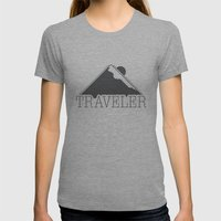 Traveler  Womens Fitted Tee Athletic Grey SMALL