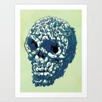Bunny Skull Uprisings  Edition Art Print
