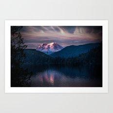 Sunset Mt. Rainier, Mine… Art Print