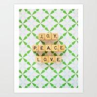 Joy Peace Love Art Print