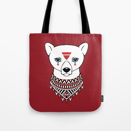 Tribal Bear Tote Bag