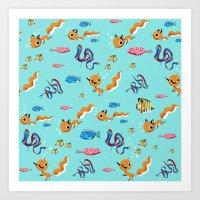Fox Tales - A Tropical S… Art Print