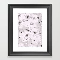 Cherry Flowers Framed Art Print