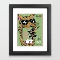 Blind Blind Tiger Framed Art Print