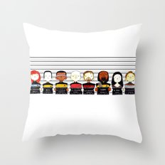 ST: TNG Police Lineup Throw Pillow