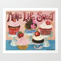 Make Life Sweet Art Print