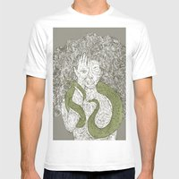 Snake and Sprite: Green Mens Fitted Tee White SMALL