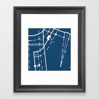 Pattern Master Navy Framed Art Print