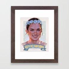 Rey Of Sunshine Framed Art Print