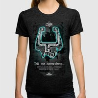 Midna's Helmet, The Lege… Womens Fitted Tee Tri-Black SMALL