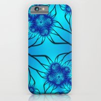 Blue Flowers Fractal iPhone 6 Slim Case