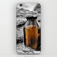 Message in a bottle Swept away by the sea Secrets held within Dreams of you and me iPhone & iPod Skin