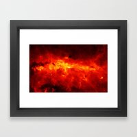 The Painted Space Lava Framed Art Print