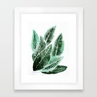 Paradise Leaves Framed Art Print