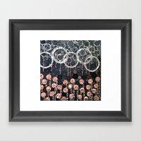 :: Peach Mimosa :: Framed Art Print