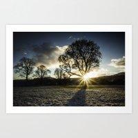 A Winters Sunset Art Print