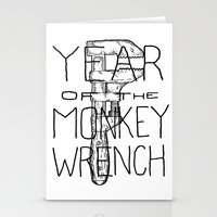Year of the Monkey Wrench Stationery Cards