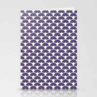Dragon Scales Deep purple Stationery Cards