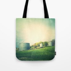 Farm land drive by Tote Bag
