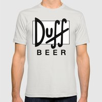 Duff Beer! Mens Fitted Tee Silver SMALL