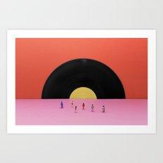 Soundset Art Print