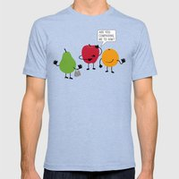 Like Apples And Oranges Mens Fitted Tee Tri-Blue SMALL