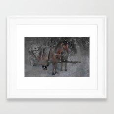 Those wild winter days Framed Art Print