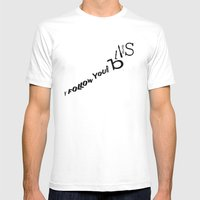 Follow Your Bliss Mens Fitted Tee White SMALL