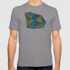 a new geometry Mens Fitted Tee Athletic Grey SMALL
