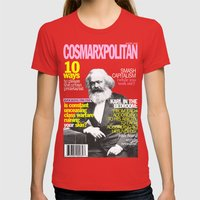 COSMARXPOLITAN, Issue 1 Womens Fitted Tee Red SMALL