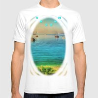 Bodrum Mens Fitted Tee White SMALL