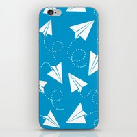 Paper Plane iPhone & iPod Skin