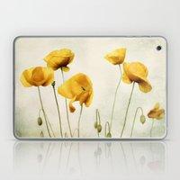 Yellow Poppies Laptop & iPad Skin