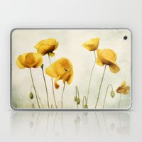 Yellow Poppies Laptop & iPad Skin