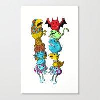 Chicken Fight! Canvas Print