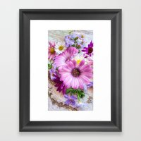 Daisies On Deck Framed Art Print