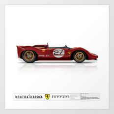 Ferrari 1967 330 P4 / 350 Can-Am Art Print